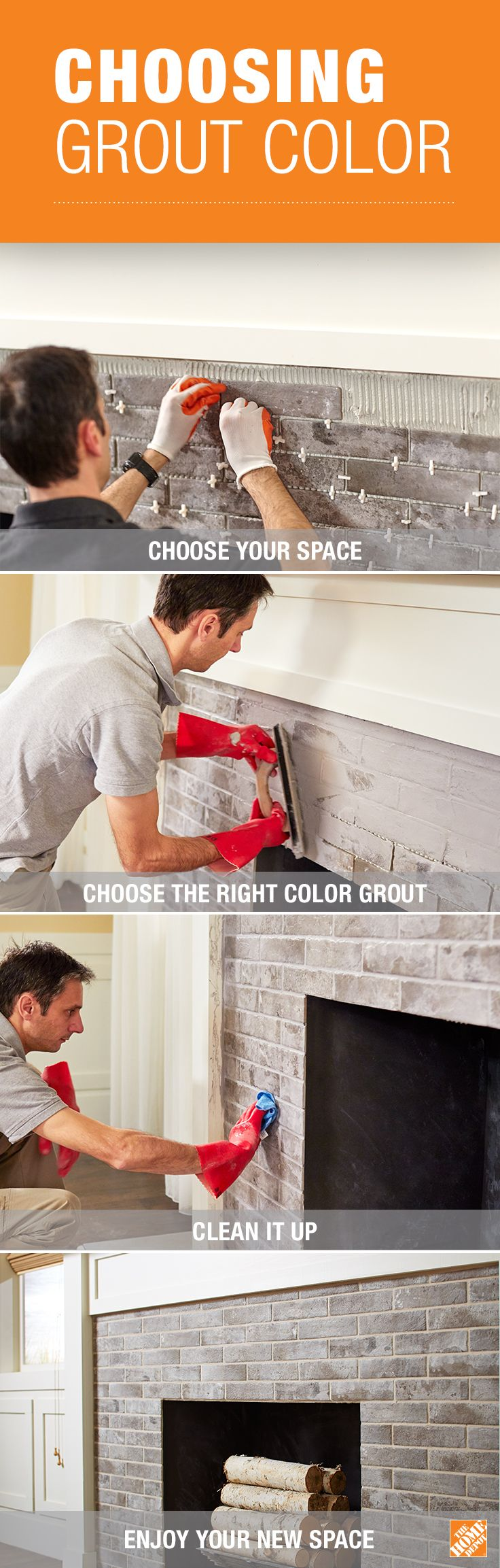 You can get the best look and performance by choosing the right color with color perfect Fusion Pro® Grout. Click through to The Home Depot Blog for grout and tiling tips.