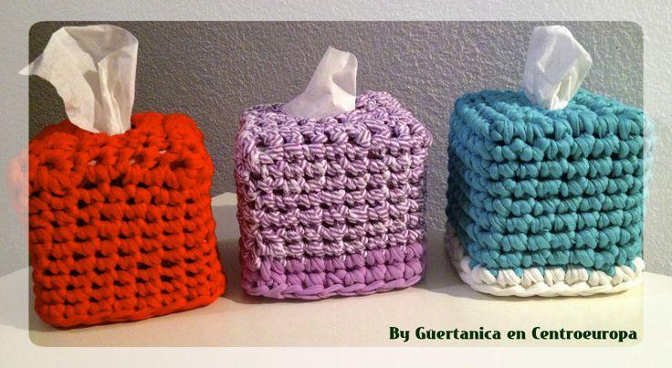 Cajas de pañuelos de trapillo