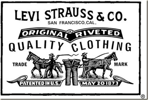 On May 20, 1873, Strauss and Davis received a U.S. patent for using copper rivets to strengthen the pockets of denim   work pants. Levi Strauss & Co. began manufacturing the famous Levi's brand of   jeans, using fabric from a textile manufacturing company in Manchester, New   Hampshire.