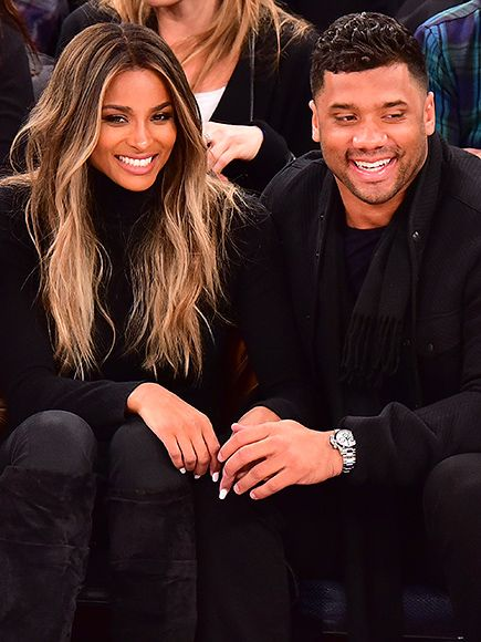 Date night! Ciara and boyfriend Russel Wilson catch a Washington Wizards vs. New York Knicks basketball game