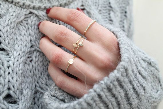 We love stacking rings! These delicate gold rings make up a perfect stacking set. Wear them all together or separate for a minimal look! This set