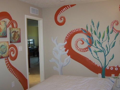 Cool ocean theme. For kids room or bathroom. eclectic kids by Anita Roll Murals