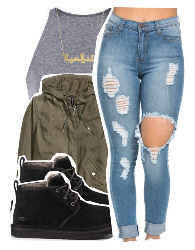 """3/6/16"" by xtaymaxlovesxmisfitx ❤ liked on Polyvore featuring H&M and UGG Australia"