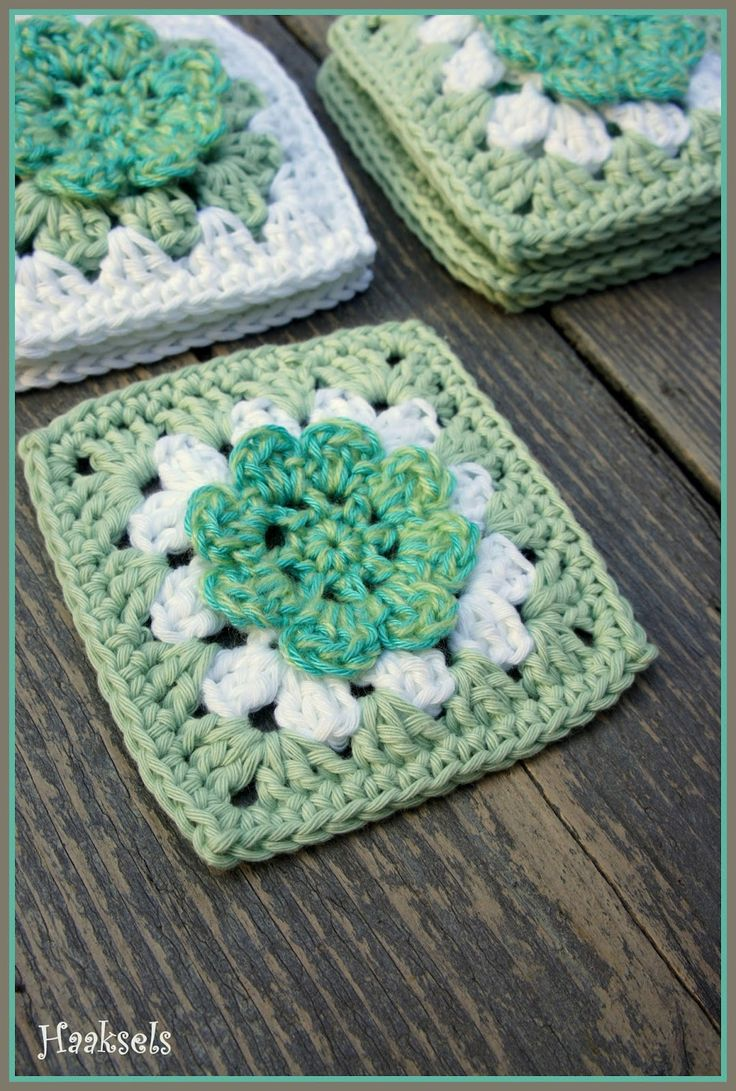 Haaksels: Flower Grannie Square pattern
