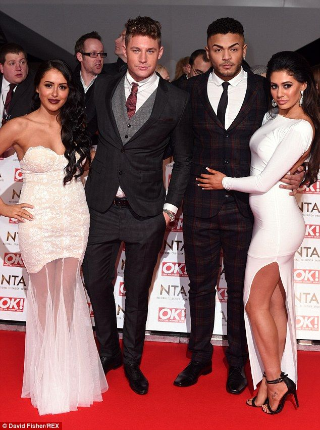 Stunning: Marnie had wowed on the red carpet alongside her fellow castmates from Geordie S...