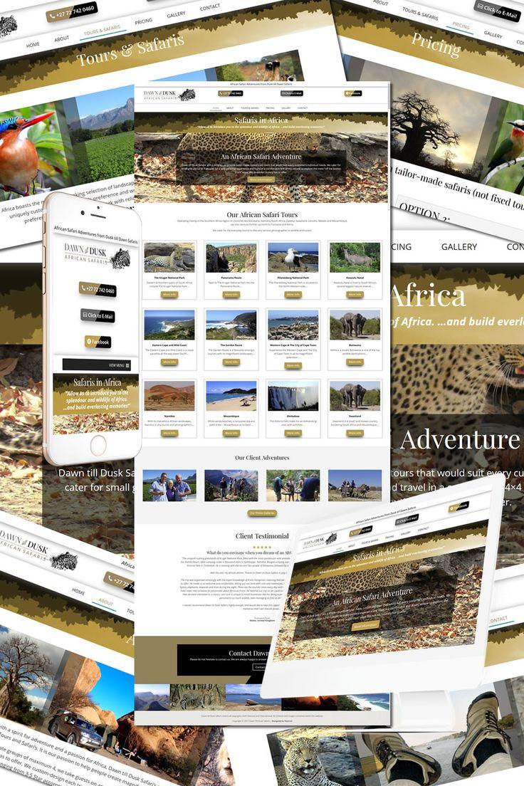 The New Website for Dawn till Dusk African Safaris https://hostcat.co.uk/project/dusk-till-dawn-safaris/