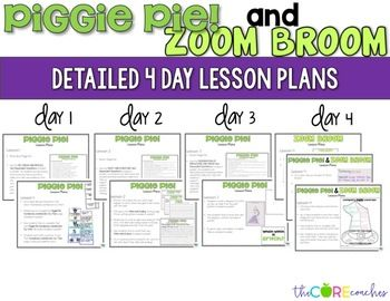 Piggie Pie and Zoom Broom: Read-Aloud Compare/Contrast Les