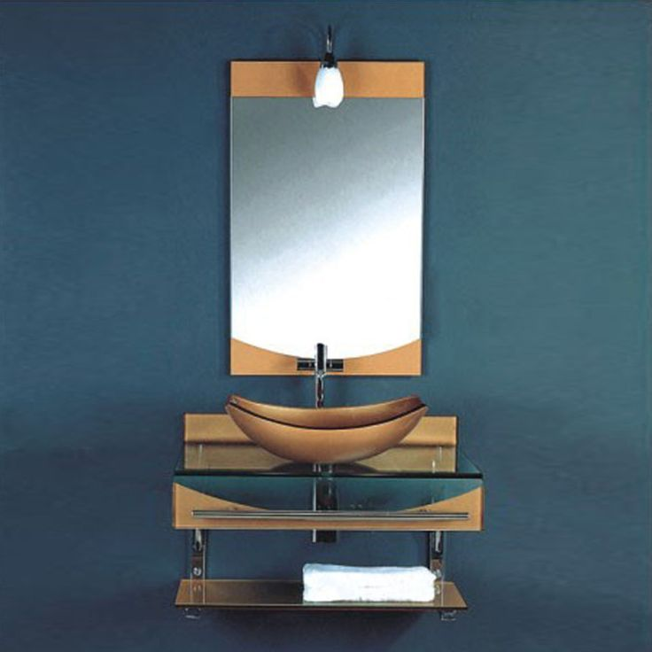 Kokols WF-24 31-in Wall Mount Vessel Bathroom Vanity with Sink Combo Set | ATG Stores