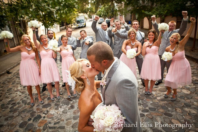 What an amazing photo at this very happy Donna Morgan #wedding day!