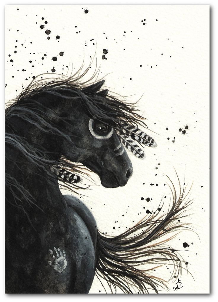 Native american black horse tattoos pinterest print for How much is a prinker tattoo