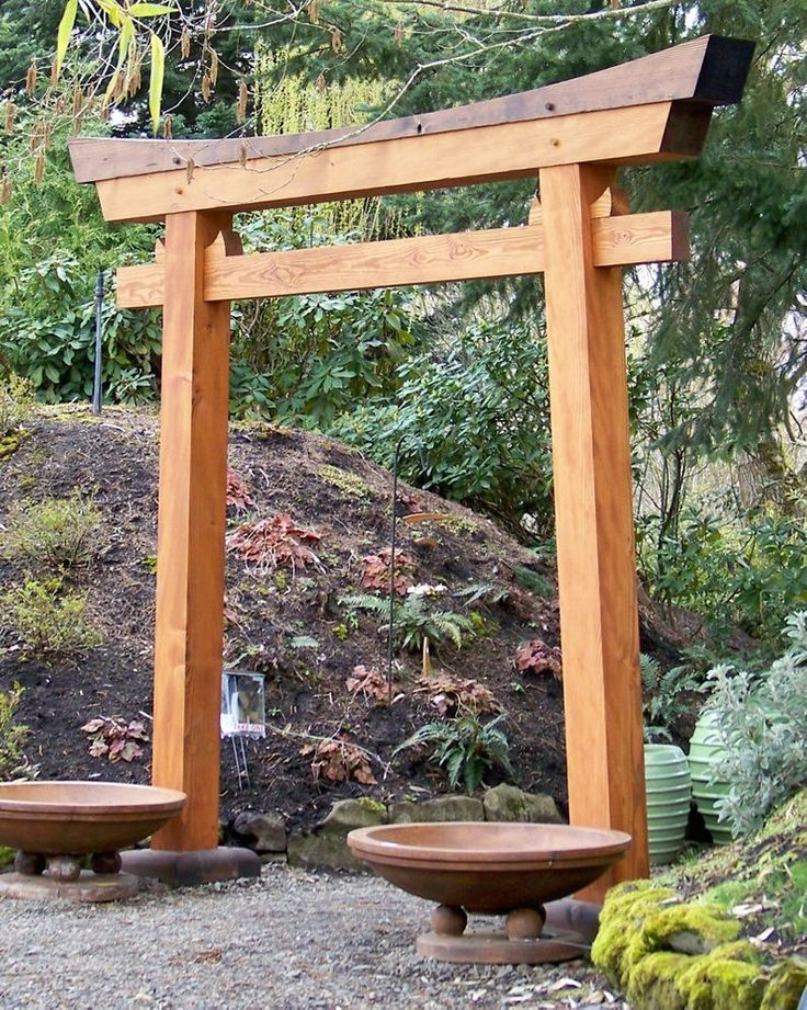 Torii Custom Crafted From Traditional Design Japanese