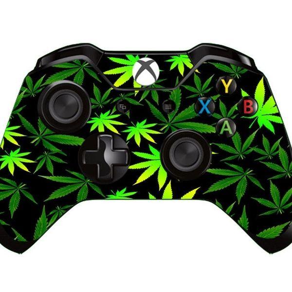 Green Leaf Vinyl Decal Skin For Xbox One X Box One Controller In 2020 Xbox One Custom Xbox One Controller Xbox