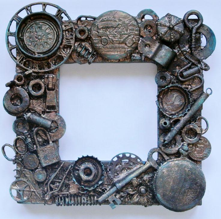 Altered Steampunk Frame - Scrapbook.com