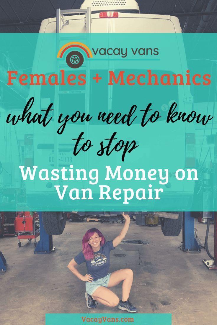 advice for females mechanics instagram vanlife nissan camper van van life repair mechanic pinterest