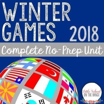 Winter Games 2018: This cross-curricular unit will keep your students engaged while learning about the 2018 Winter Games. This hands-on unit contains: - Fact Cards for the First Winter Games - Fact Cards for the 2018 PyeongChang Winter Games - Pocket Patt