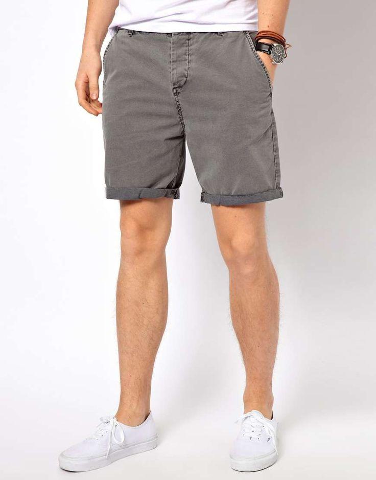 ASOS Chino Shorts With Acid Wash