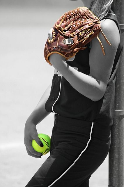 I want my mom to take softball pics of me. I think she could do something like this in a few. I'll see!