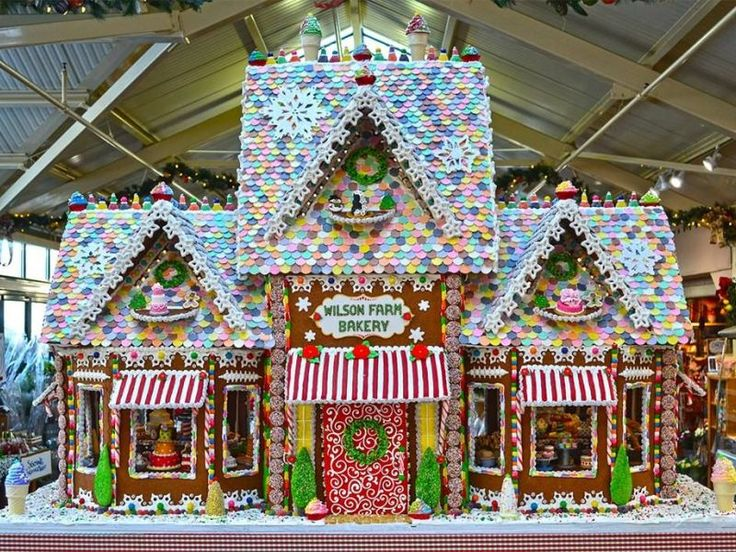 The bakery went all out this year for its 5-foot, 300-pound gingerbread house.
