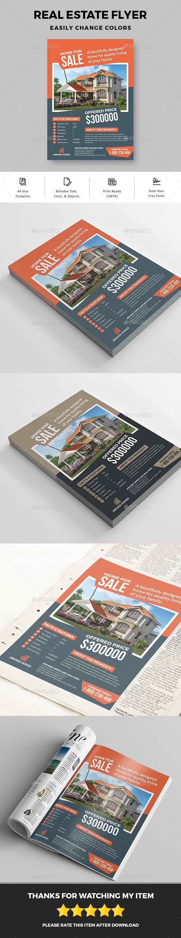 Real estate flyer by graphicsegg Simple Real Estate Flyer Template is a great tool for promoting your real estate business also useful for a realtor or a real esta