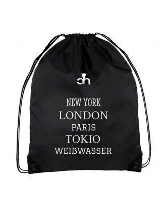 Hipster Rucksack aus strapazierfähigem 210D Polyester - Weißwasser :-)