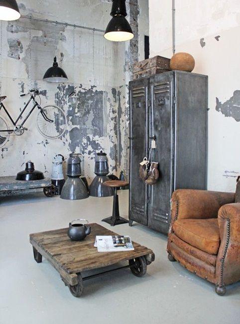 inspiracje w moim mieszkaniu: Metalowa szafa we współczesnym wnętrzu