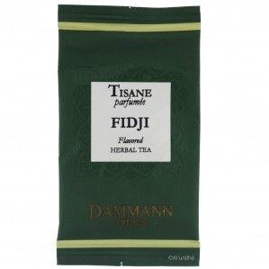 Infusion tonique de la maison DAMMANN FRÈRES, à découvrir sur http://www.alunithe.com/sachets-de-the/marques/sachets-thes-dammann-freres/sachet-the-dammann-tisane-fidji.html - #dammann #frères #tisane #infusion #fidji #citronnelle #gingembre