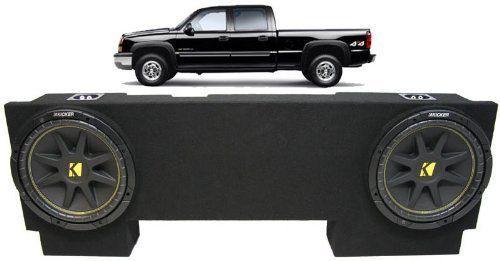 ASC Package Chevy Silverado 01-07 1500HD Crew Truck Dual 12 Kicker C12 Subwoofer Sub Box Enclosure 600 Watts Peak