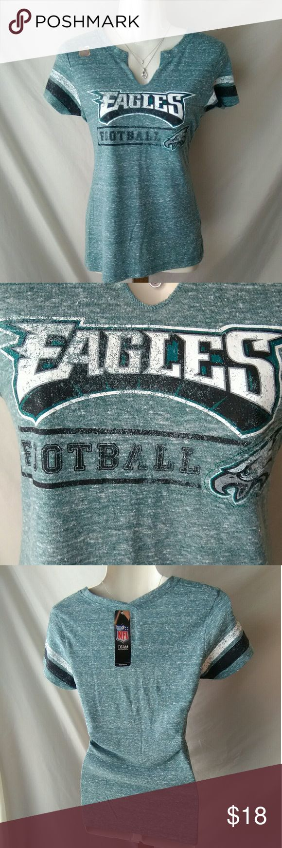 NWT Philadelphia eagles womens t-shirt Brand New with tags Officially licensed NFL Philadelphia Eagles distressed t-shirt women's size medium 47 Tops Tees - Short Sleeve
