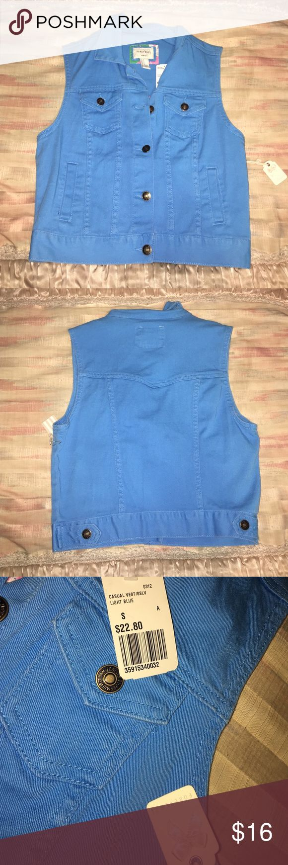 Bright blue vest! Bright blue vest. Never worn. Very cute and stylish. Forever 21 Jackets & Coats Vests