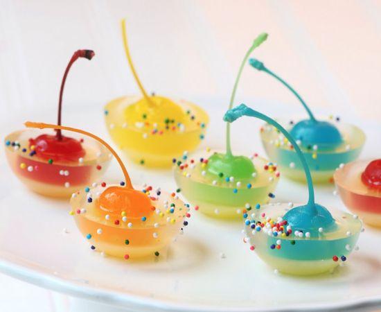 This website has all kinds of jello shots - so creative!!!Pineapple Juice, Non Alcoholic, Jello Shot Recipes, Jello Shots Recipe, Drinks, Jelloshots, Rainbows Cherries, Jelly Shots, Maraschino Cherries