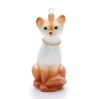 Gato Oriental adorno vidrio sopladopara Árbol de | venta online en HOLYART