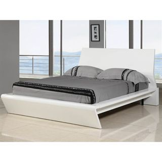 Check out the Whiteline Modern Living BK1096-WHT Nelly High Gloss White King Bed