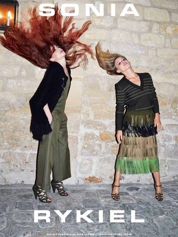 Elizabeth and Georgia May Jagger for Sonia Rykiel S/S '15 photographed by Juergen Teller