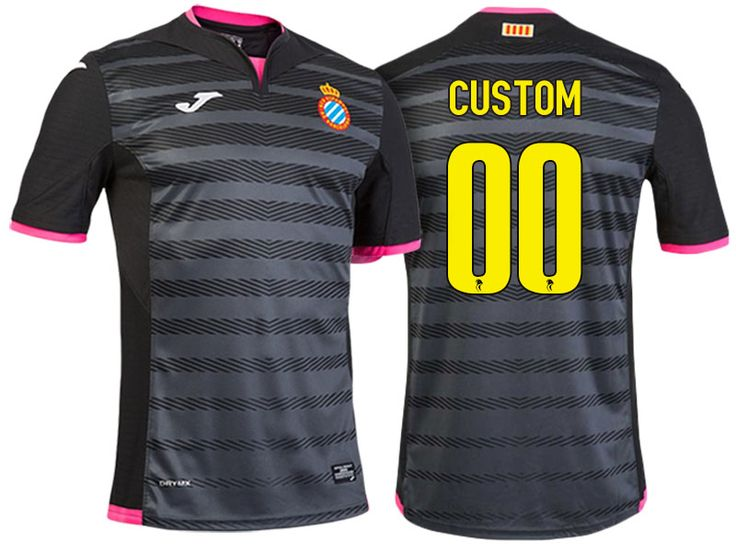 RCD Espanyol Black 2016-17 Alternate Customized Jersey