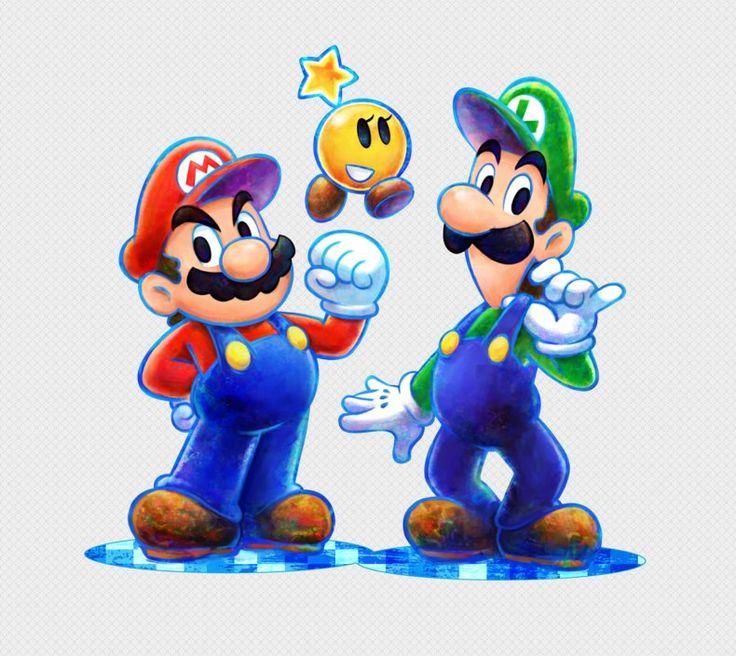 Mario & Luigi: Dream Team artwork: Mario, Luigi and Starlow