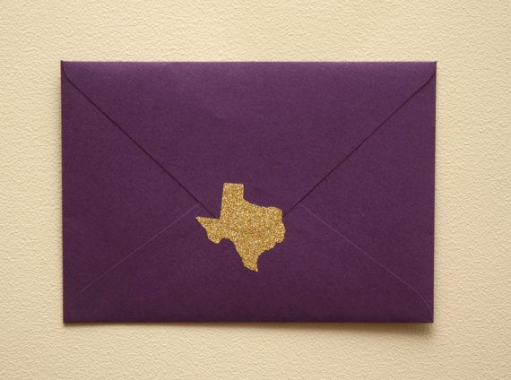20 gold glitter Texas stickers, save the date invitation seal, Texas envelope seals, Texas wedding, TX save the date, Texas party favor