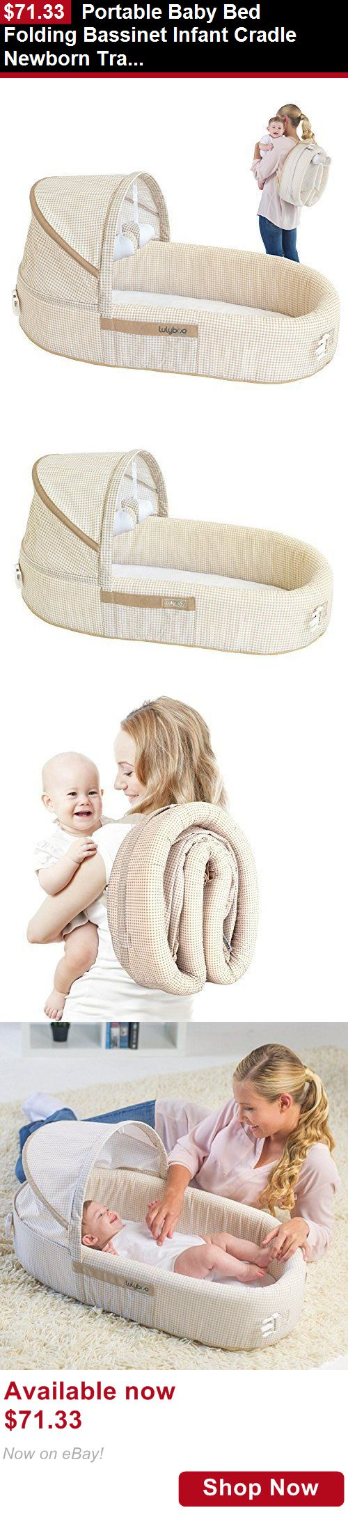 Bassinets And Cradles: Portable Baby Bed Folding Bassinet Infant Cradle Newborn Travel Sleeper Backpack BUY IT NOW ONLY: $71.33