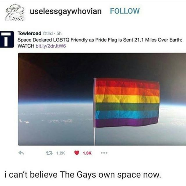 haven't u seen star trek the gays have owned space for 50 years now< lol. I should probably fact check this post