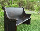 Black Wooden Church Pew