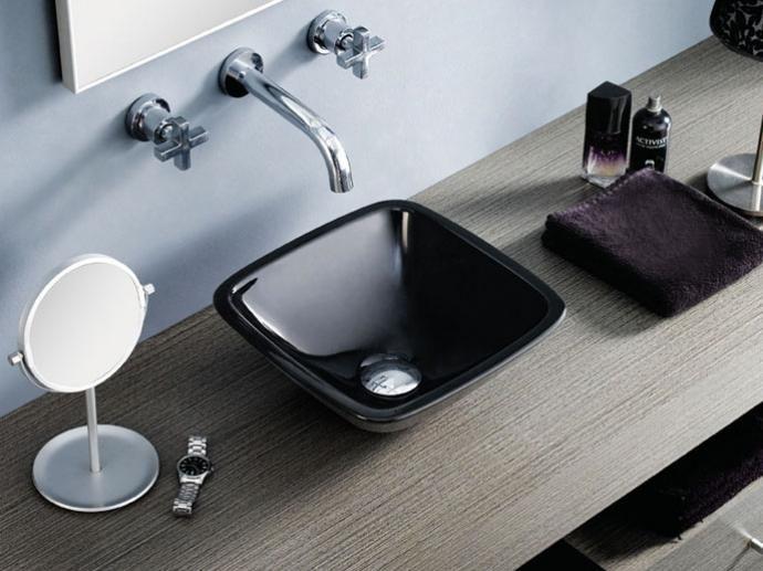 Lavabo Baviera Negro De Te Bathco   Washbasin Baviera Black By The Bathco Photo