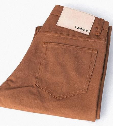 Crafted with the tradition of durable, industrial workwear in mind, these canvas pants are handmade with all-American materials. The heavy-duty canvas is an adventure-ready companion for outdoor exploring, long days in the workshop or the urban commute. They're outfitted with straight, slim legs and a full rise and reinforced stitching for durability and timeless style.