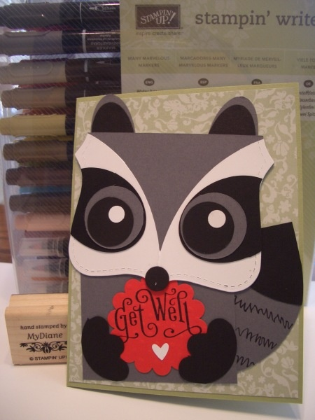 Stampin' Up!  Top Note Raccoon  Diane Malcor