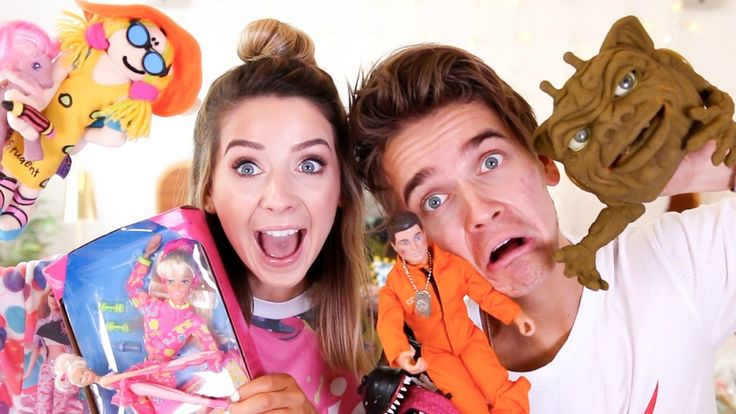 Reacting To Our 90's Childhood Toys | Zoella - YouTube