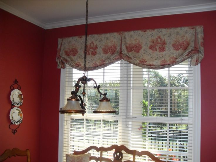 Interior. Vintage Floral Patterned Valance Combined White Venetian Blinds.  Beautiful Valances For Living Room Part 68