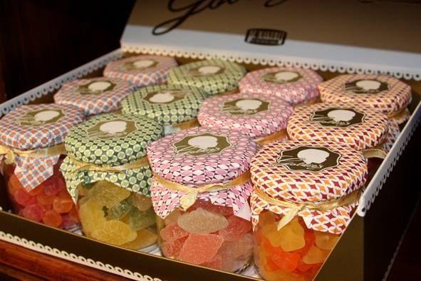 snoepjes in plaats van doopsuiker