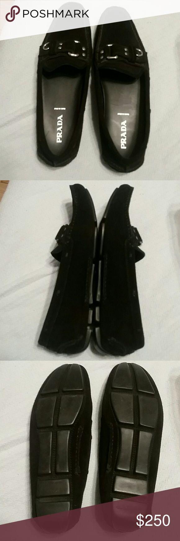 Prada black suede driving loafers Prada black suede driving loafers. Excellent used condition. Size 40 Prada Shoes Flats & Loafers