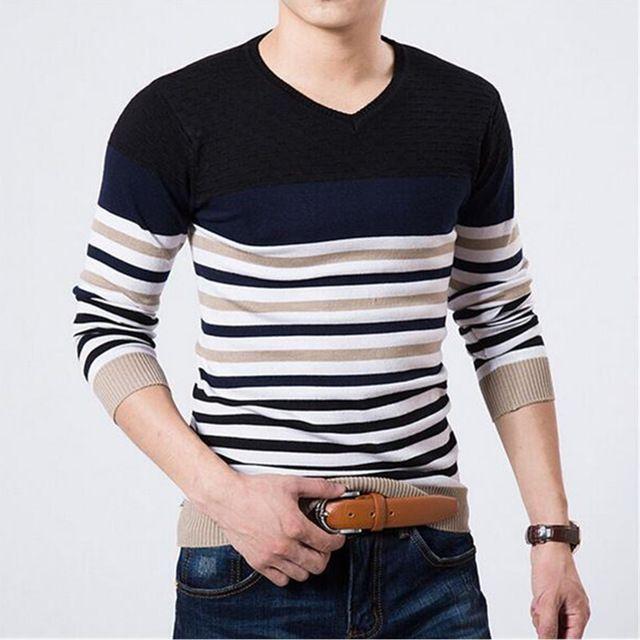Suéteres de Los Hombres Clásicos europeos Y Americanos, bordado Cuello Redondo Suéter de Los Hombres, Masculino delgado Suéteres, Suéter de cachemira