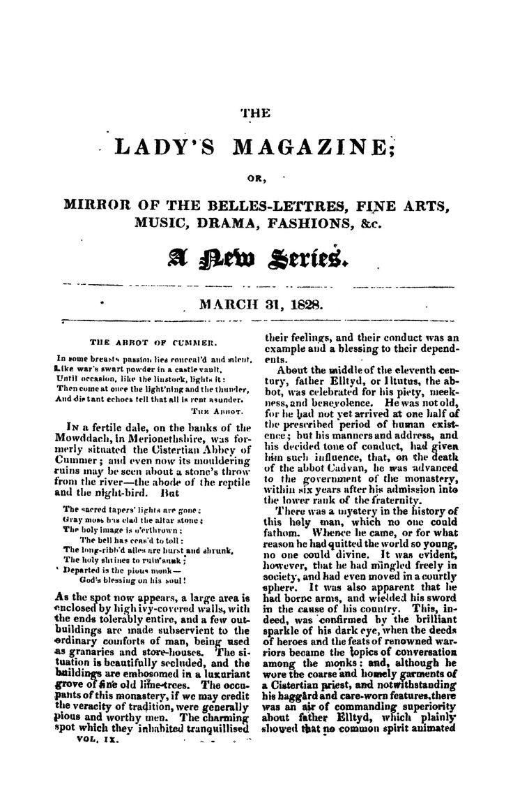 The Lady's Magazine, Vol.4