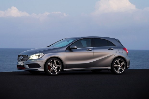 Mercedes-Benz revealing their new 2012 A-Class hatchback for the European market.