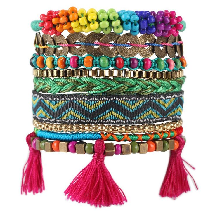 Luxury Weave Bead Handmade Bracelet Multilayer Fashion Tassel - Bracelets World